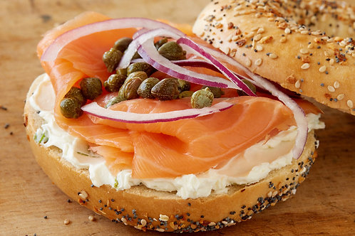 Lox on a New York City bagel