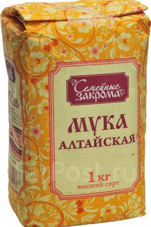 Semeinye Zakroma (Семейные Закрома) Wheat Flour (Aлтайская Mука) 1kg
