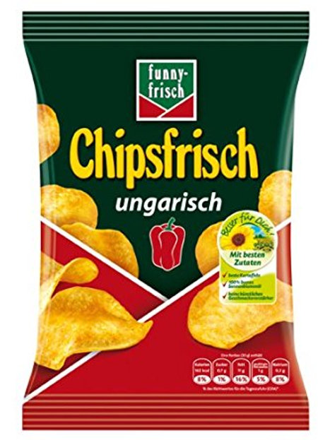 Funny Frisch Hungarian Potato Chips (Chipsfrisch Ungarisch) 6.2 oz (175g)