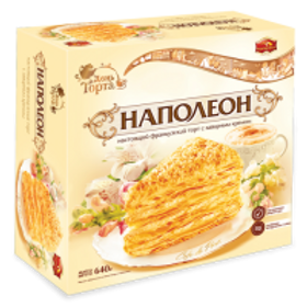 "Napoleon (""НАПОЛЕОН"") Cake - Imported from Russia 22.6 oz (640g)"
