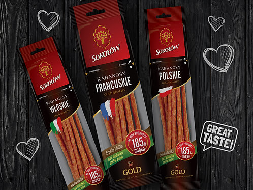 Sokołów Pork Kabanos (French Inspired) Package 4.23 oz (120g)