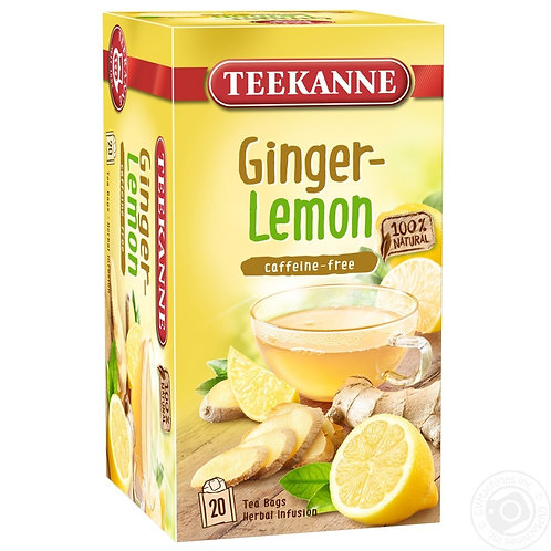Teekanne Ginger Lemon Box of 20 Tea Bags