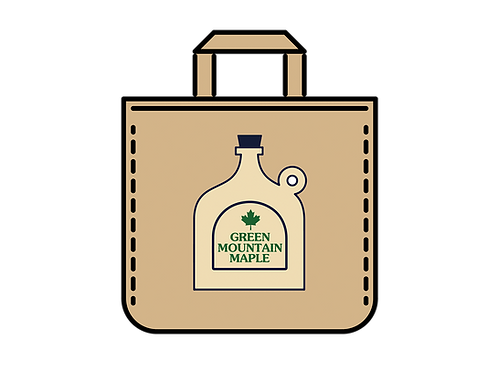 Green Mountain Maple Jug Canvas Bag