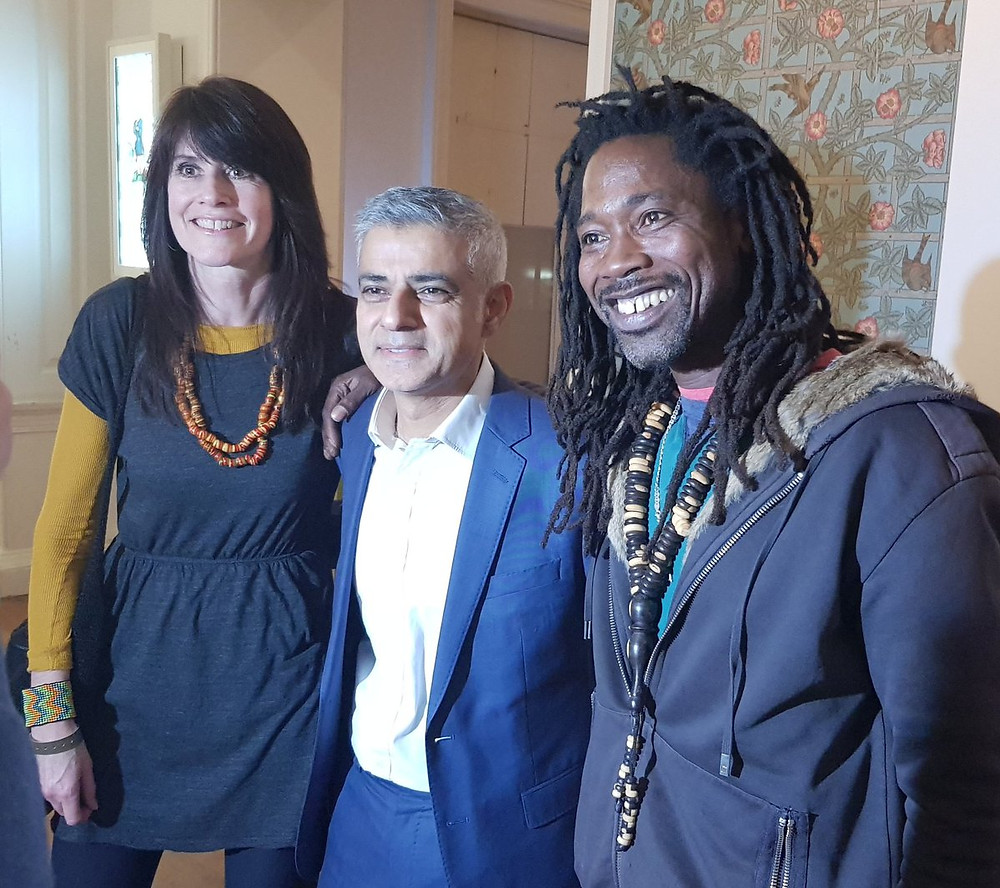 Chantelle and Seneke with London Mayor Sadiq Khan