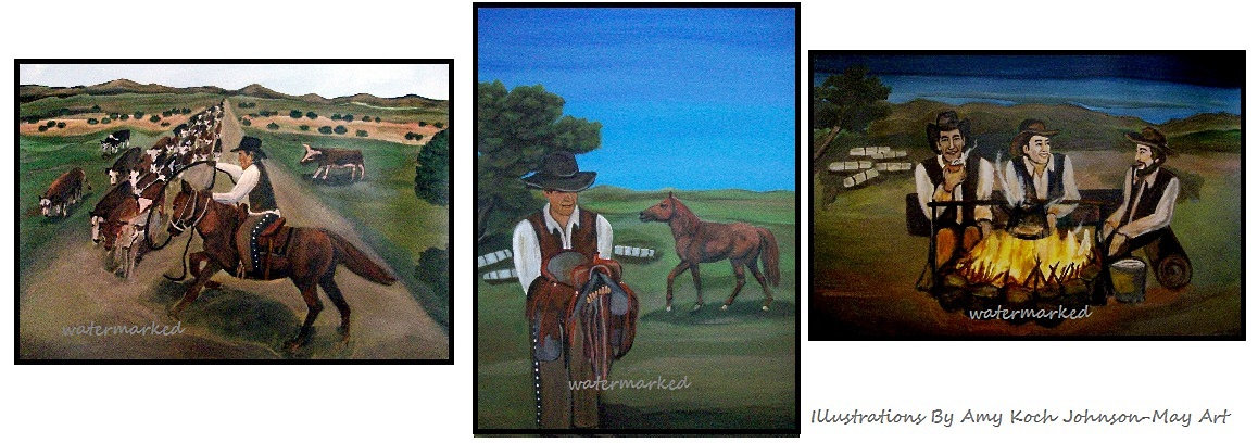 IllustrationA cowboys day on the range.j