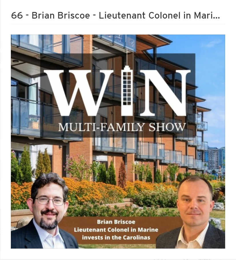 Brian Briscoe on the WIN Multi-family show