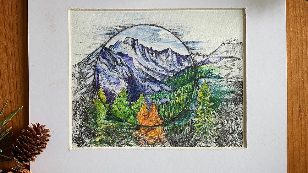 Shifting Values Mountain Range