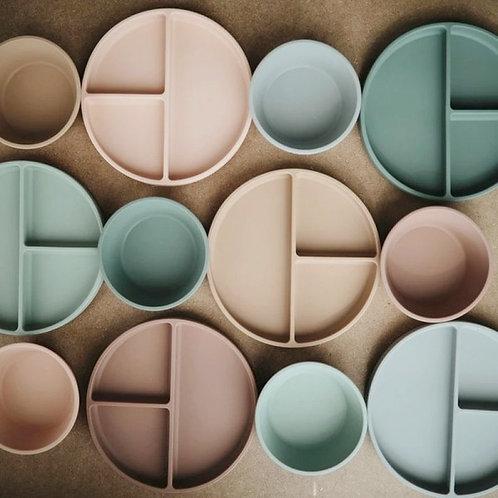 platos de silicona con ventosa