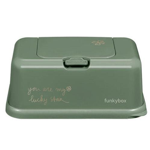 Caja para toallitas Trébol verde