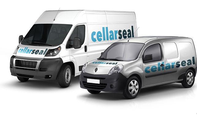 Cellar Seal delivery vans
