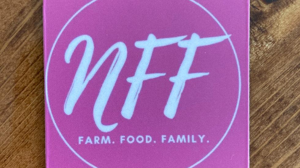 Pink NFF Logo Magnet