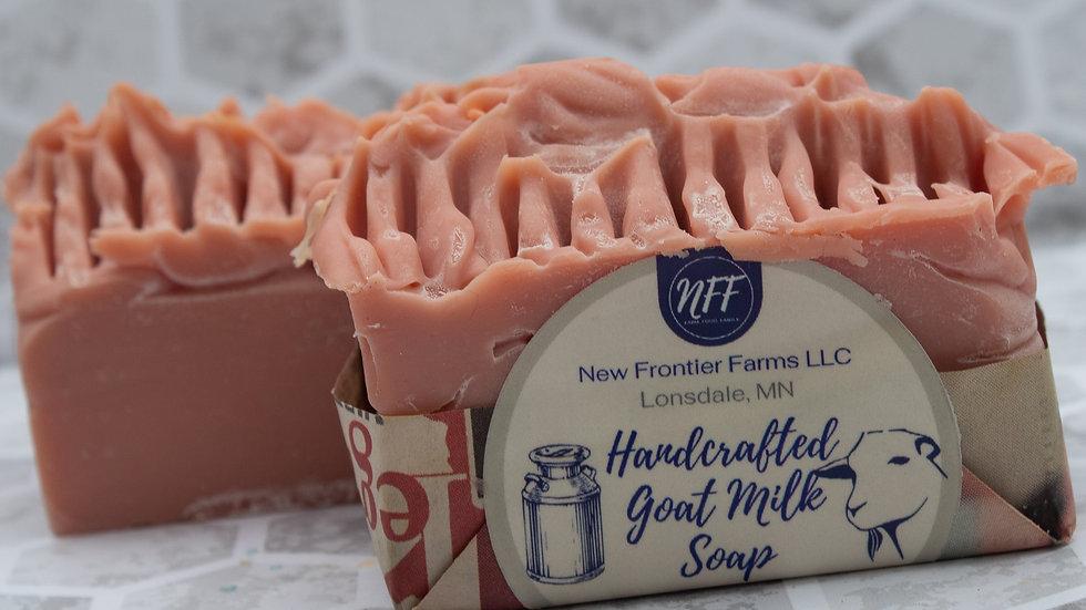 Textured Rose Clay Goat Milk Soap Bar