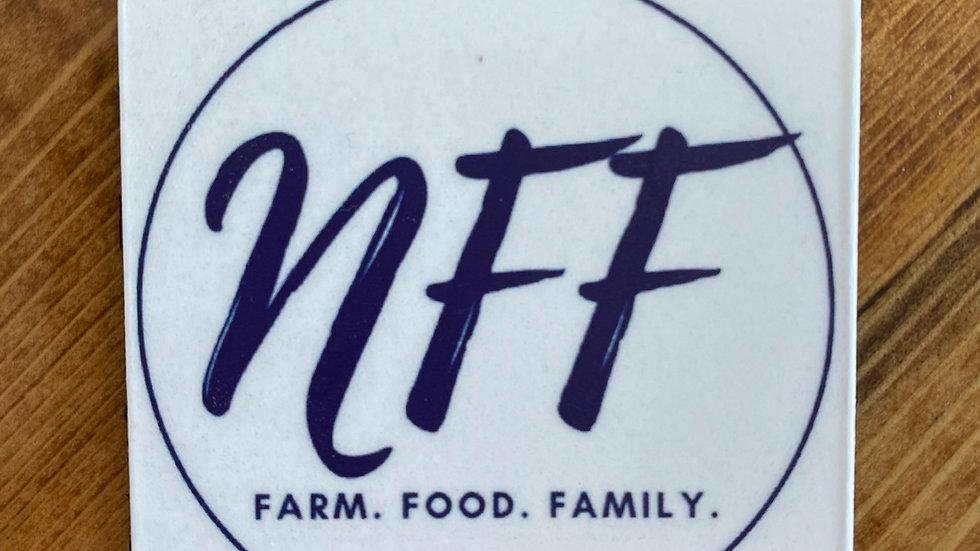 White NFF Logo Magnet
