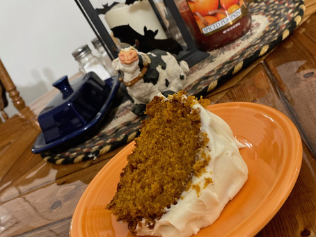 Heavenly Pumpkin Cake with Cream Cheese Frosting