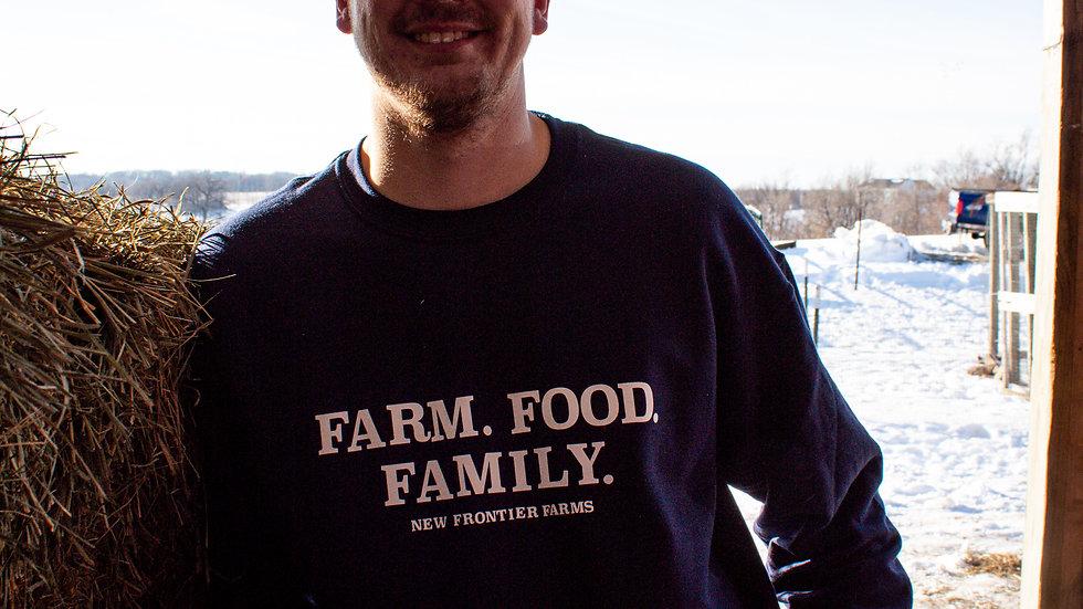 Men's Farm. Food. Family. Sweatshirt