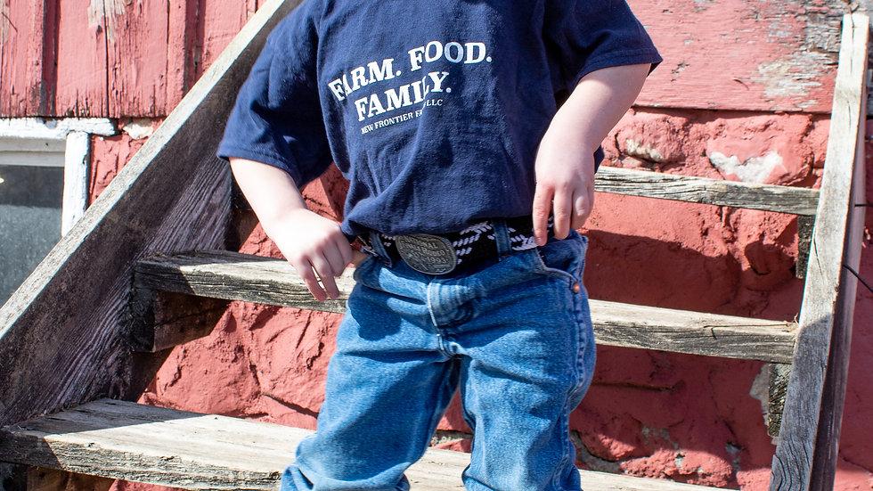 Farm. Food. Family. Kids T-Shirt
