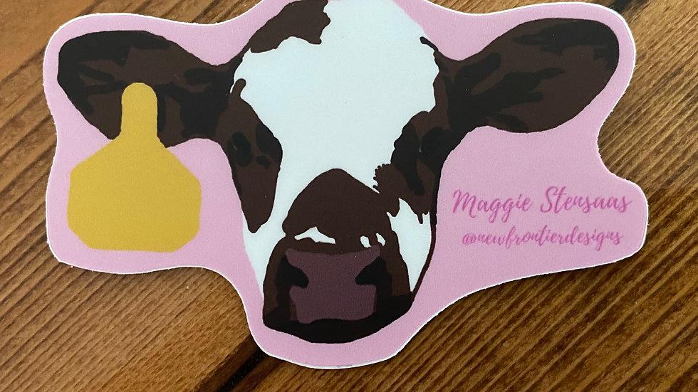Gertie the Cow Sticker