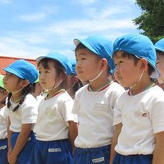 片平幼稚園の園児たち