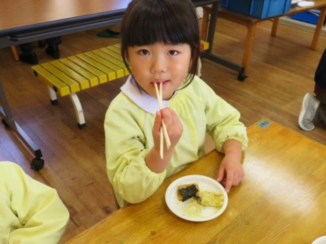 郡山市 片平町 片平学園 片平幼稚園 幼稚園 お餅 餅屋 食育 きなこ 海苔