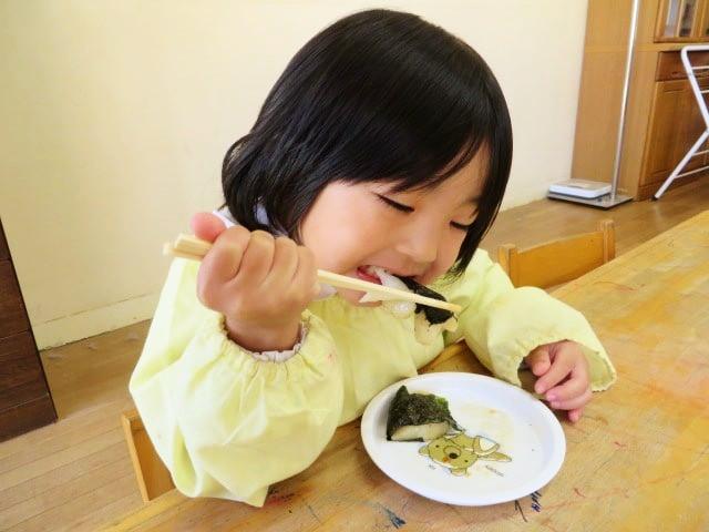 郡山市 片平町 片平学園 片平幼稚園 幼稚園 お餅 餅屋 食育 のり 箸