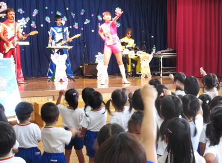 幼稚園にふくしまキッズマンがやってきた!