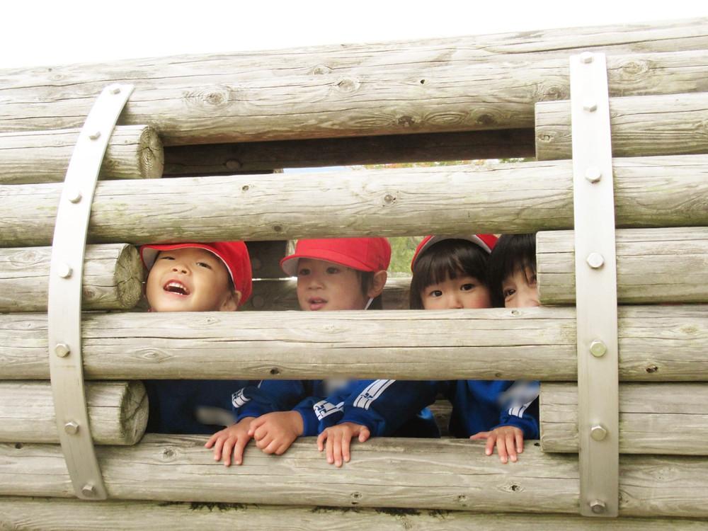 郡山市 片平町 片平学園 片平幼稚園 幼稚園 会津レクリエーション公園 アウトドア アスレチック 楽しい 年少 遊具