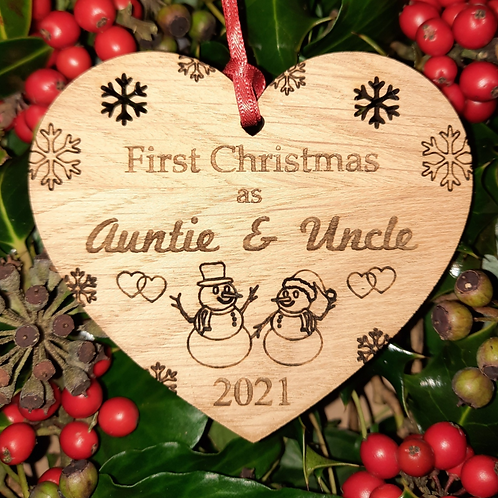 Heart First Christmas Auntie &  Uncle