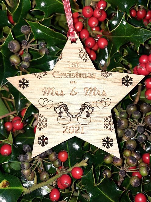 Star First Christmas Mrs & Mrs