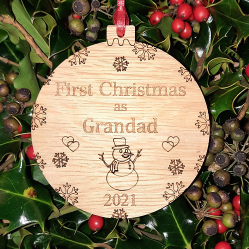 Bauble First Christmas Grandad