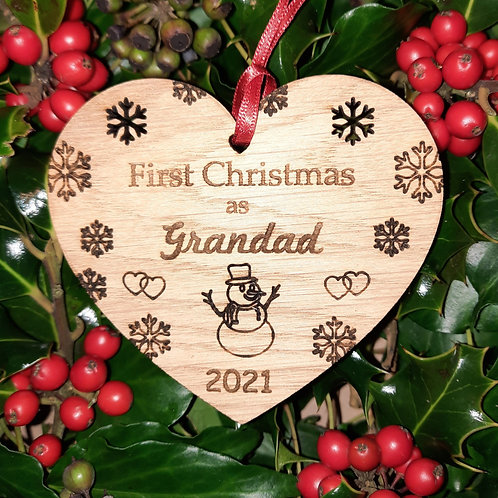 Heart First Christmas Grandad