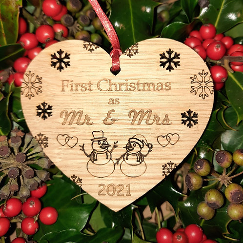 Heart First Christmas Mr & Mrs