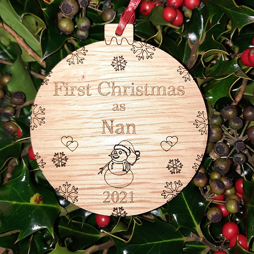 Bauble First Christmas Nan