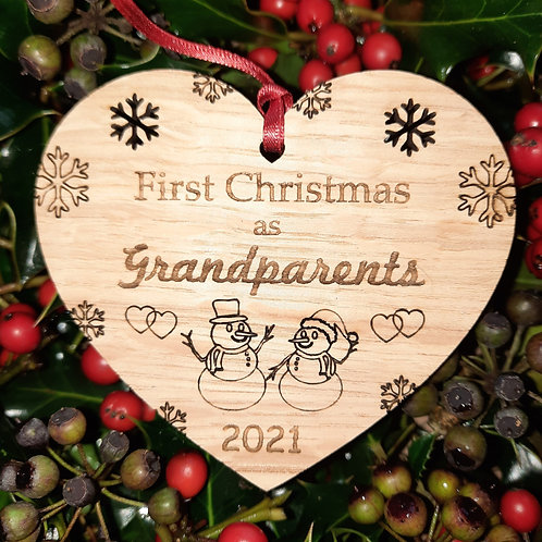Heart First Christmas Grandparents