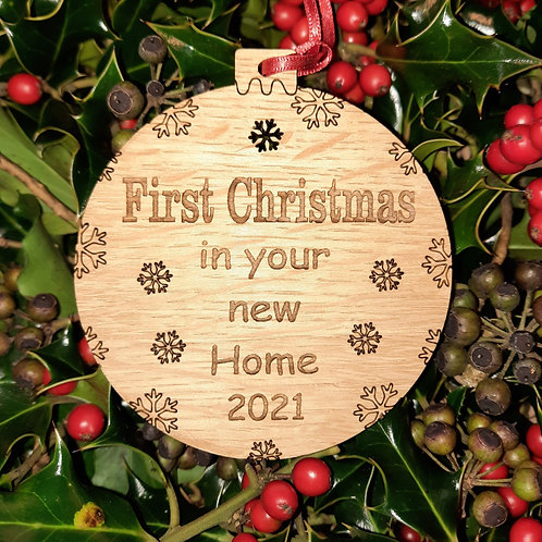 Bauble First Christmas Your New Home