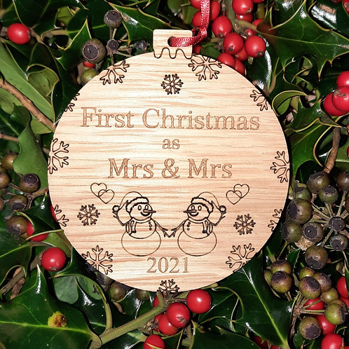 Bauble First Christmas Mrs &Mrs