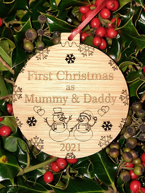 Bauble Christmas First Mummy & Daddy