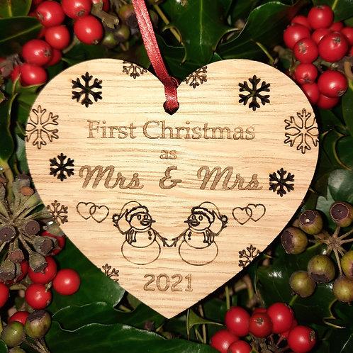 Heart First Christmas Mrs & Mrs