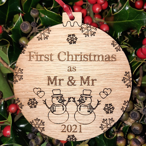 Bauble First Christmas Mr & Mr