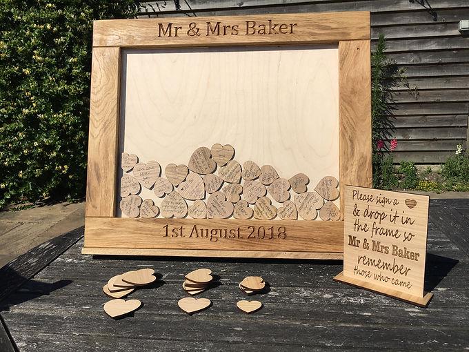 Oak Wedding Guestbook Dropbox