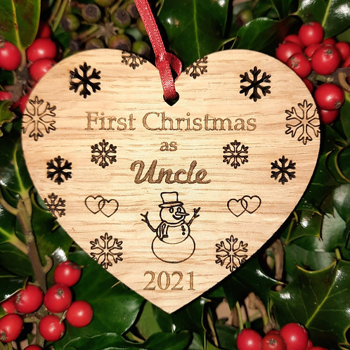 Heart First Christmas Uncle