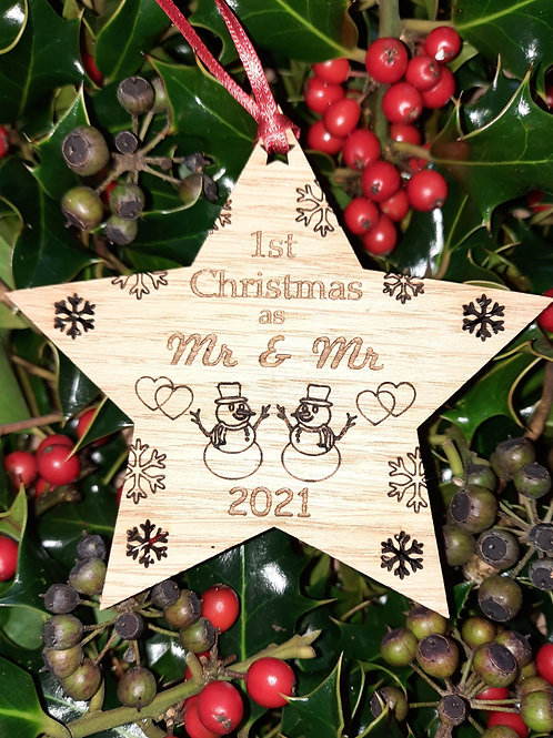 Star First Christmas Mr & Mr