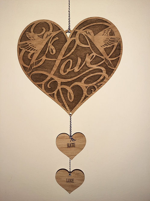 Valentines large Love Birds