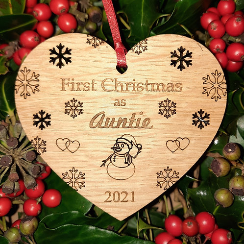 Heart First Christmas Auntie