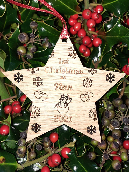 Star First Christmas Nan