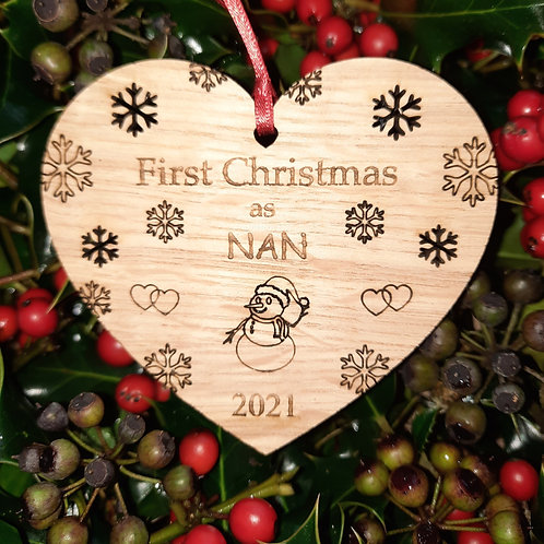 Heart First Christmas Nan