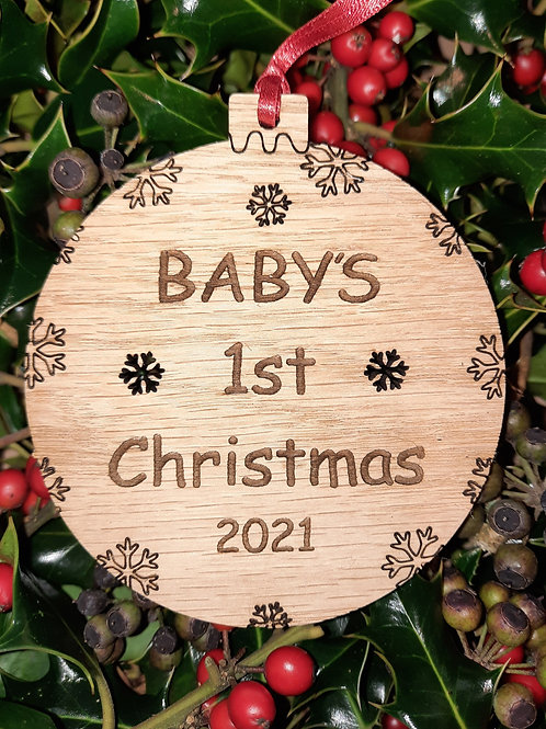 Bauble First Chirstmas  Baby