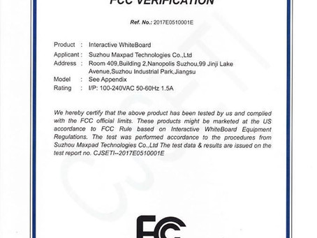 MAXPAD products are certified by FCC