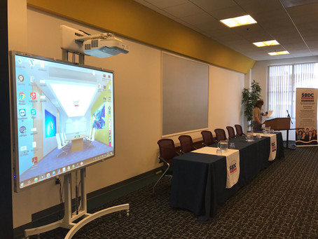 SBDC consulting in Council for Supplier Diversity for using Maxpad interactive whiteboard!
