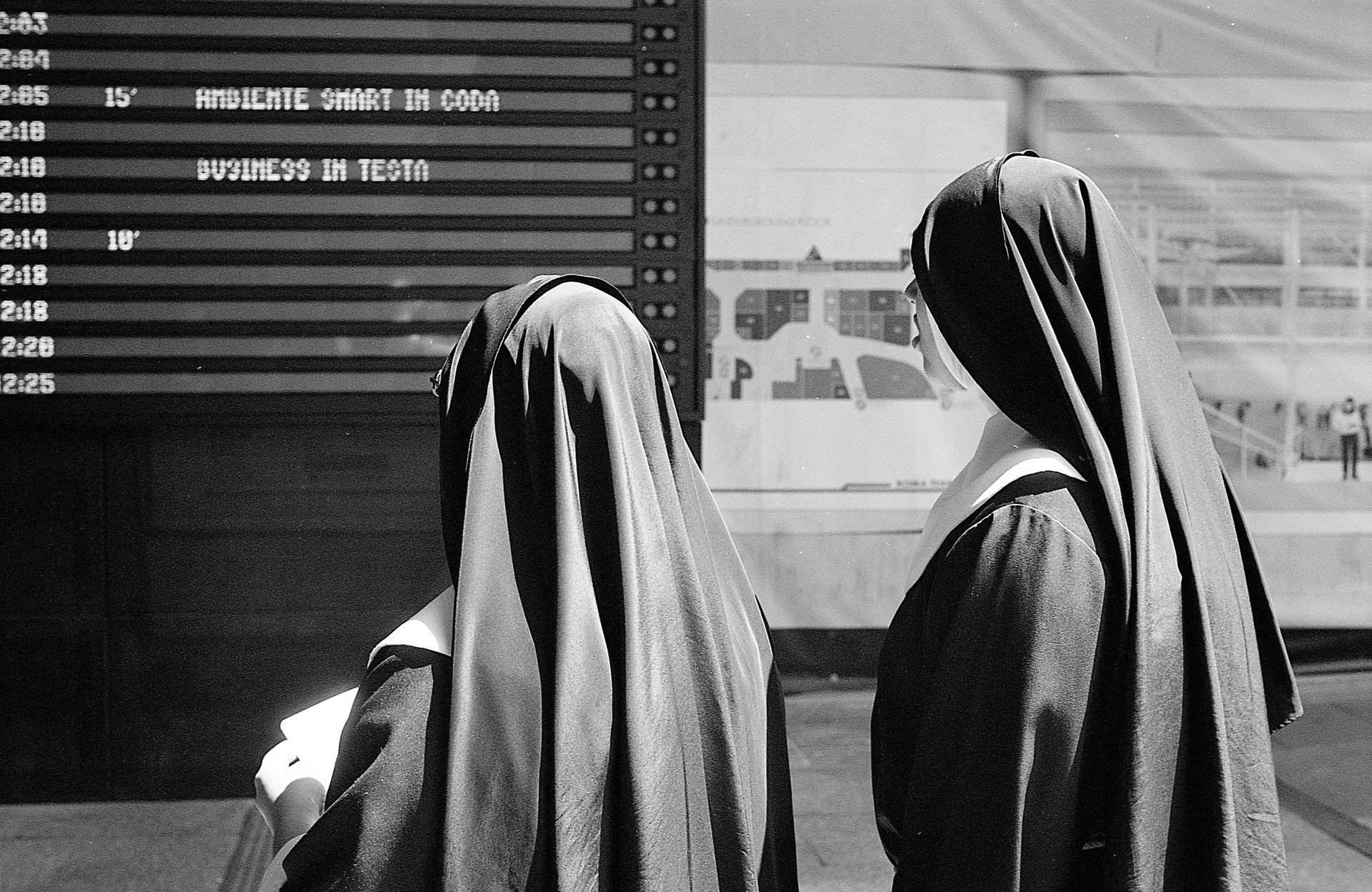 Portrait of Nuns at Rome Termini Station
