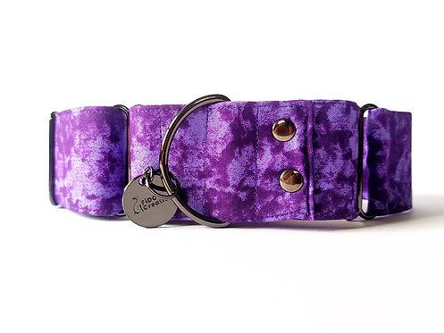Purple Haze Tie Dye Martingale Dog Collar